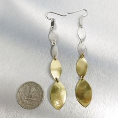 Marjorie Baer Linked Leaf Shoulder Duster Earrings - product images 2 of 5