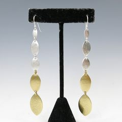 Marjorie Baer Linked Leaf Shoulder Duster Earrings - product images 5 of 5
