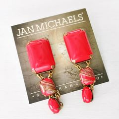Jan Michaels Lipstick Red Earrings - product images 5 of 7