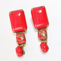 Jan Michaels Lipstick Red Earrings - product images 1 of 7