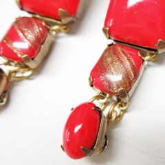 Jan Michaels Lipstick Red Earrings - product images 2 of 7