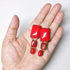 Jan Michaels Lipstick Red Earrings - product images 6 of 7