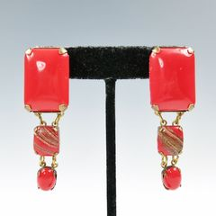 Jan Michaels Lipstick Red Earrings - product images 7 of 7