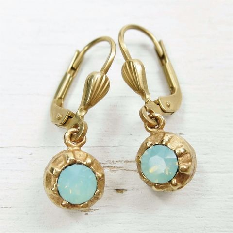 Catherine,Popesco,Small,Crystal,Ball,Earrings,in,Pacific,Opal,Catherine Popesco Earrings, La Vie Parisienne Earrings, Catherine Popesco Jewelry, Catherine Popesco Paris