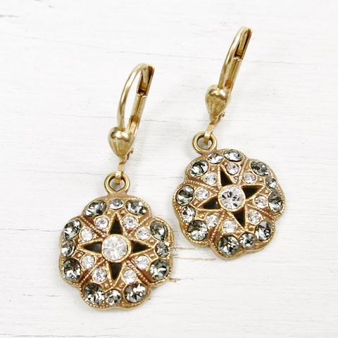 Catherine,Popesco,Floral,Earrings,with,Star,Center,Catherine Popesco Earrings, La Vie Parisienne Earrings, Catherine Popesco Jewelry, Catherine Popesco Paris
