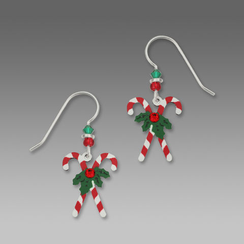 Sienna,Sky,Earrings,-,Crossed,Candy,Canes,with,Holly,Sienna Sky Earrings, Adajio earrings Sienna Sky, Sienna Sky Colorado