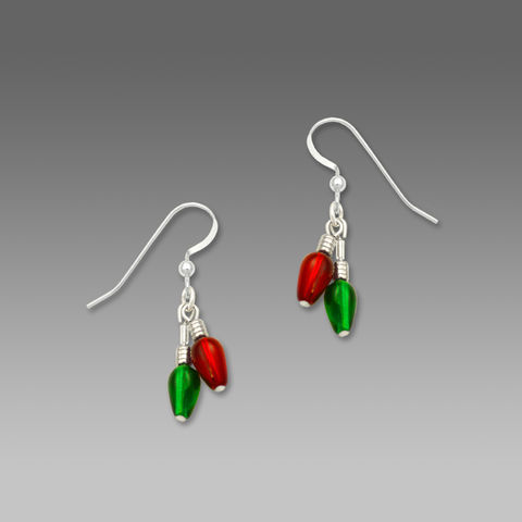 Sienna,Sky,Earrings,-,Beaded,Red,and,Green,Christmas,Lights,Sienna Sky Earrings, Sienna Sky Jewelry, Sienna Sky Beaded Red and Green Christmas Lights Earrings, Sienna Sky 1702