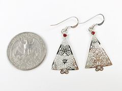 Sienna Sky Earrings - Filigree Silver Christmas Tree with Red Star - product images 4 of 4