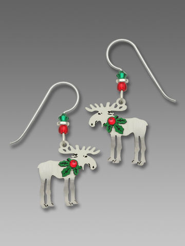Sienna,Sky,Earrings,-,Christmas,Moose,with,Holly,Sienna Sky Earrings, Adajio earrings Sienna Sky, Sienna Sky Colorado