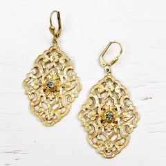 Catherine Popesco Filigree Earrings with Crystal - product images 1 of 5