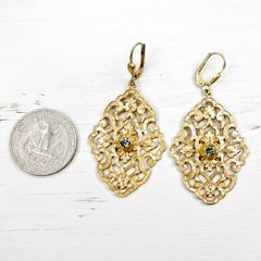Catherine Popesco Filigree Earrings with Crystal - product images 3 of 5