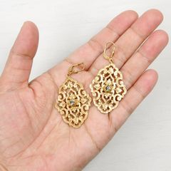 Catherine Popesco Filigree Earrings with Crystal - product images 4 of 5
