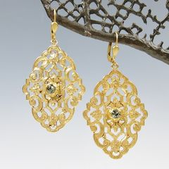 Catherine Popesco Filigree Earrings with Crystal - product images 5 of 5