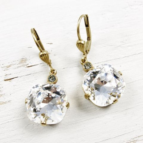Catherine,Popesco,Large,Crystal,Earrings,in,Clear,Catherine Popesco Earrings, La Vie Parisienne Earrings, Catherine Popesco Jewelry, Catherine Popesco Paris