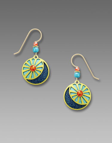 Adajio,Earrings,-,Hand,Painted,'Sun,and,Moon',Adajio Earrings, Adajio earrings Sienna Sky, Adajio Jewelry, Adajio Colorado, Adajio 7795