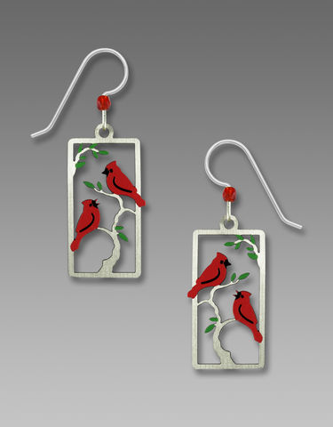 Sienna,Sky,Earrings,-,Two,Red,Cardinals,on,a,Branch,Sienna Sky Earrings, Adajio earrings Sienna Sky, Sienna Sky Colorado