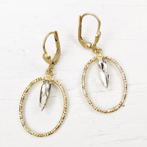 Catherine,Popesco,Small,Textured,Oval,Hoop,Earrings,with,Crystal,Catherine Popesco Earrings, La Vie Parisienne Earrings, Catherine Popesco Jewelry, Catherine Popesco Paris