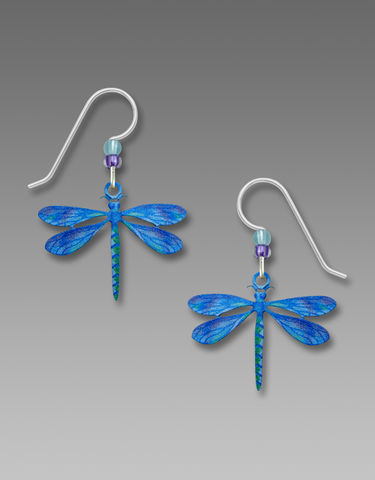 Sienna,Sky,Earrings,-,UV,Printed,Blue,Dragonfly,Sienna Sky, UV Printed Blue Dragonfly