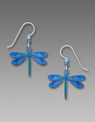 Sienna Sky Earrings -  UV Printed Blue Dragonfly - product images 1 of 4