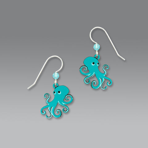 Sienna,Sky,Earrings,-,Aqua,Octopus,Sienna Sky, Aqua Octopus