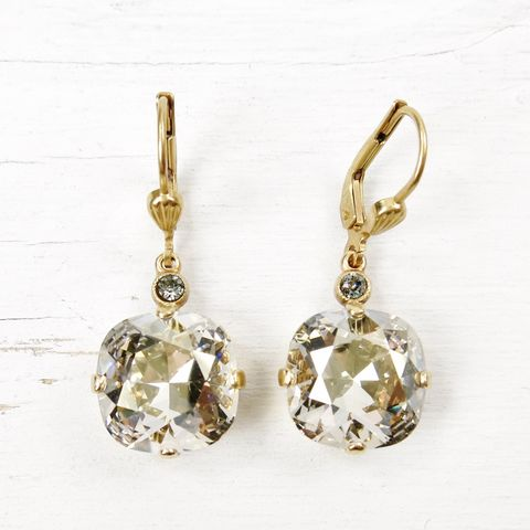 Catherine,Popesco,Large,Crystal,Earrings,in,Shade,Catherine Popesco Earrings, La Vie Parisienne Earrings, Catherine Popesco Jewelry, Catherine Popesco Paris