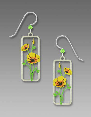 Sienna,Sky,Earrings,-,Yellow,Poppies,Sienna Sky Earrings, Sienna Sky Yellow Poppies Earrings, Sienna Sky 1998