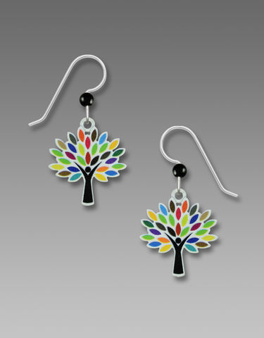 Sienna,Sky,Earrings,-,Tree,with,multi-colored,leaves,Sienna Sky, Tree with multi-colored leaves Earrings