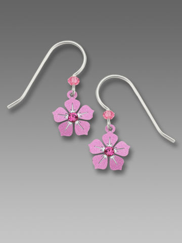 Sienna,Sky,Earrings,-,Pink,Flower,with,Crystal,Sienna Sky Earrings, Sienna Sky Colorado, Sienna Sky Earrings Pink Flower with Crystal, Sienna Sky 9132