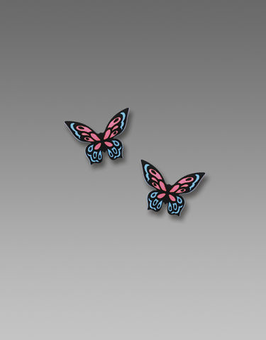 Sienna,Sky,Post,Earrings,-,Pink,and,Blue,Fantasy,Butterfly,Sienna Sky Post Earrings, Sienna Sky Pink and Blue Fantasy Butterfly Earrings, Sienna Sky 1929