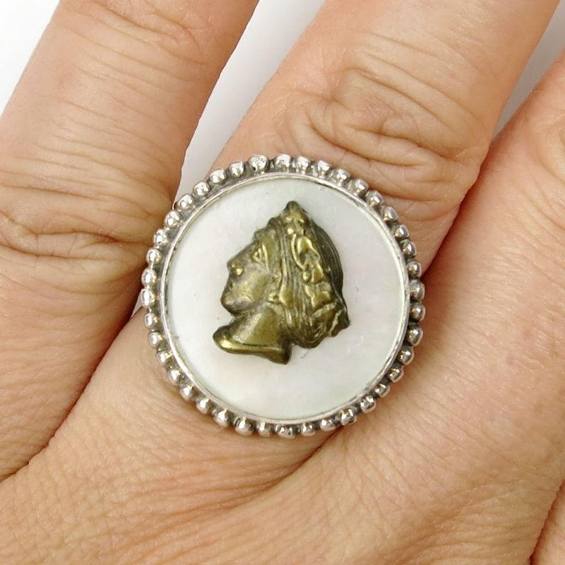 Mars and Valentine Sterling Silver Goddess Ring - product image