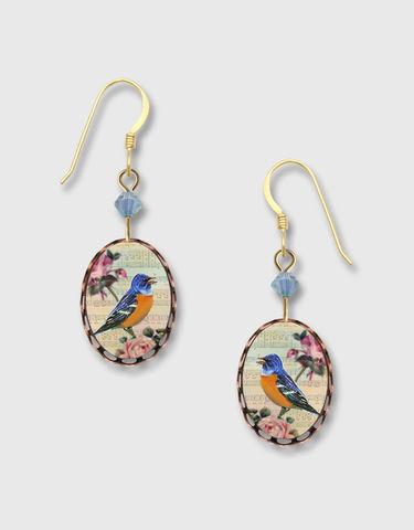 Lemon,Tree,-,Blue,Bird,with,Pink,Flowers,Lace,Brass,Oval,Earrings,Lemon Tree Earrings Colorado, Lemon Tree Earrings Blue Bird with Pink Flowers