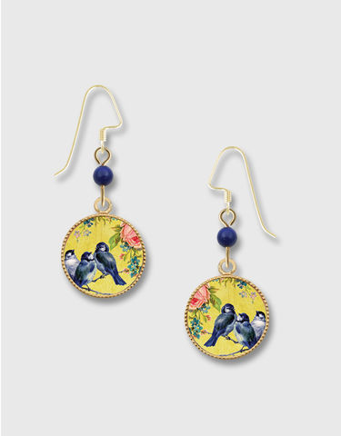 Lemon,Tree,-,Bluebirds,with,Rose,Lace,Brass,Disc,Earrings,Lemon Tree Earrings Colorado, Lemon Tree Earrings Bluebirds with Rose