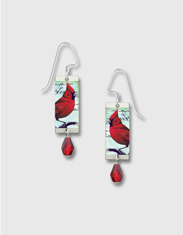 Lemon,Tree,-,Red,Cardinal,Long,Rectangle,Earrings,Lemon Tree Earrings Colorado, Lemon Tree Earrings Red Cardinal