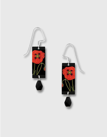 Lemon,Tree,-,Red,Poppy,Long,Rectangle,Earrings,Lemon Tree Earrings Colorado, Lemon Tree Earrings Red Poppy