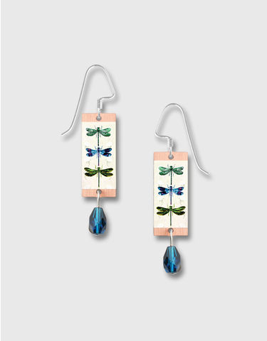 Lemon,Tree,-,Blue,Dragonflies,Long,Rectangle,Earrings,Lemon Tree Earrings Colorado, Lemon Tree Earrings Blue Dragonflies