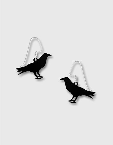 Lemon,Tree,-,Etched,Brass,Black,Bird,Earrings,Lemon Tree Earrings Colorado, Lemon Tree Earrings Black Bird
