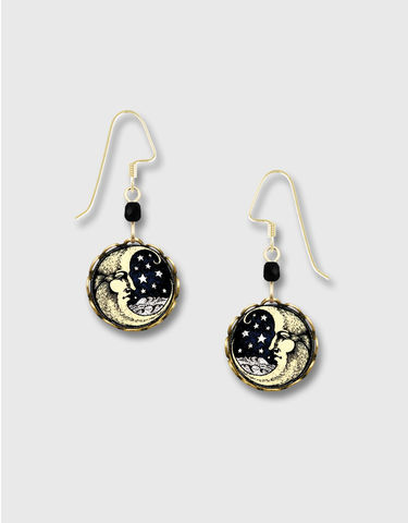 Lemon,Tree,-,Moon,Face,Lace,Brass,Disc,Earrings,Lemon Tree Earrings Colorado, Lemon Tree Earrings Moon Face