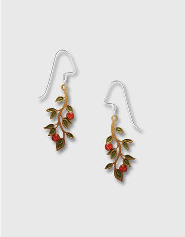 Lemon,Tree,-,Organic,Branch,Earrings,with,Olive,Leaves,Red,Berries,Lemon Tree Earrings Colorado, Lemon Tree Earrings Olive Leaves Red Berries