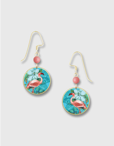 Lemon,Tree,-,Pink,Flamingo,Blue,Floral,Round,Earrings,Lemon Tree Earrings Colorado, Lemon Tree Earrings Pink Flamingo