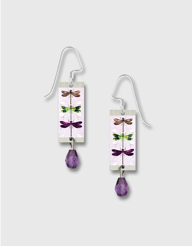 Lemon,Tree,-,Purple,Dragonflies,Long,Rectangle,Earrings,Lemon Tree Earrings Colorado, Lemon Tree Earrings Purple Dragonflies