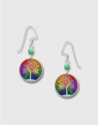 Lemon,Tree,-,Multicolor,Print,Copper,Disc,Earrings,Lemon Tree Earrings Colorado, Lemon Tree Earrings Multicolor Tree