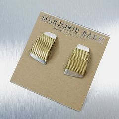 Marjorie Baer Wire-Wrapped Tapered Rectangle Earrings - product images 8 of 8