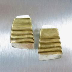 Marjorie Baer Wire-Wrapped Tapered Rectangle Earrings - product images 1 of 8