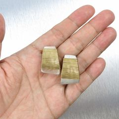 Marjorie Baer Wire-Wrapped Tapered Rectangle Earrings - product images 6 of 8