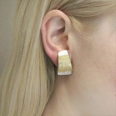 Marjorie Baer Wire-Wrapped Tapered Rectangle Earrings - product images 7 of 8