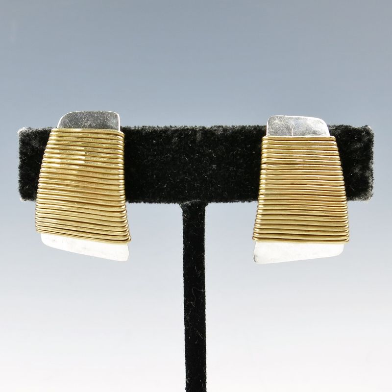Marjorie Baer Wire-Wrapped Tapered Rectangle Earrings - product image