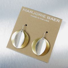 Marjorie Baer Convex Disc with Concave Leaf Wire Earrings - product images 8 of 8