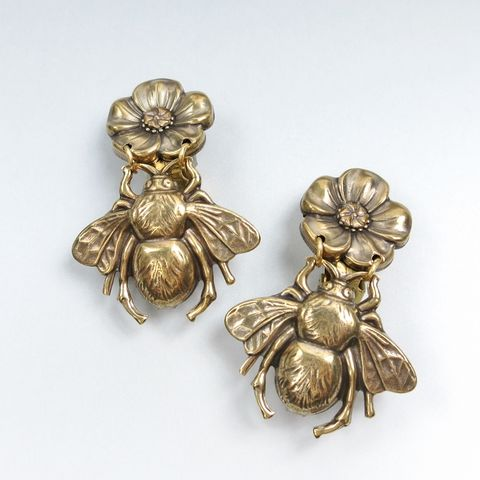 Jan,Michaels,Honey,Bee,Earrings,Jan Michaels, Jan Michaels Jewelry, Jan Michaels earrings, Jan Michaels Honey Bee Earrings