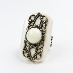 Jan Michaels Elizabethan Ring in White Bone - product images 3 of 5