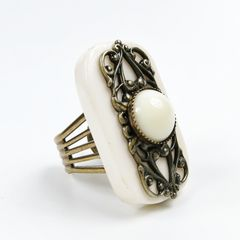 Jan Michaels Elizabethan Ring in White Bone - product images 2 of 5